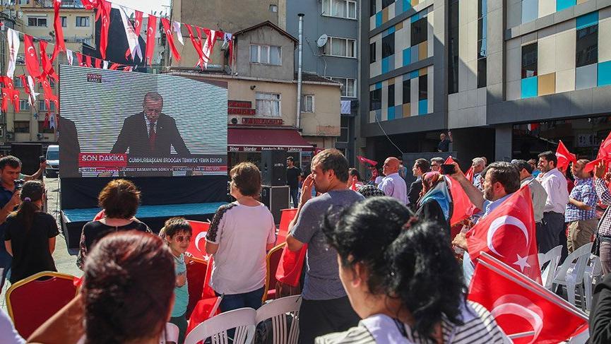 Erdoğan'ın yemin töreni İstanbul'dan da takip edildi