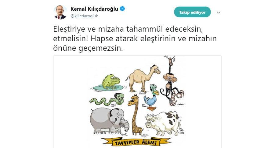 Kılıçdaroğlu dediğini yaptı o karikatürü yayınladı