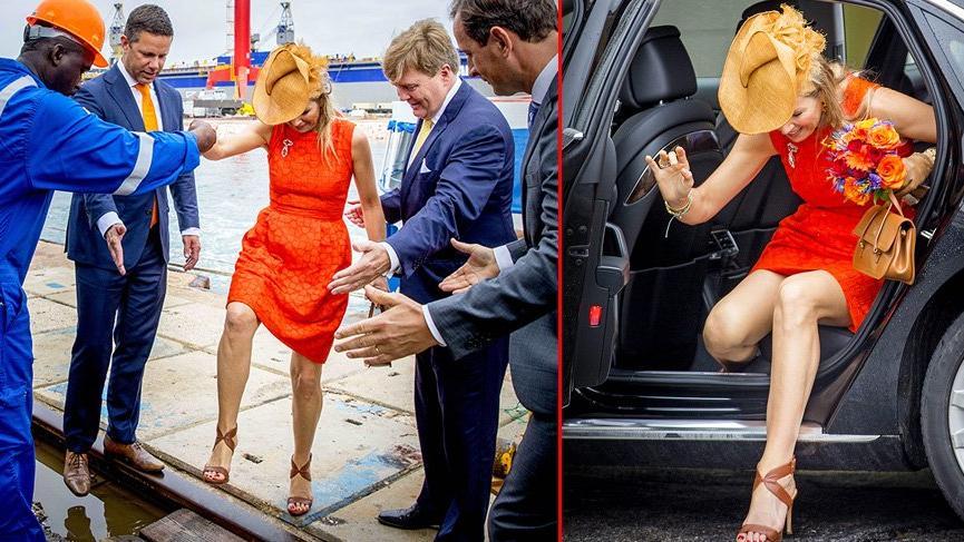Kraliçenin kısa elbise ve şapkayla imtihanı