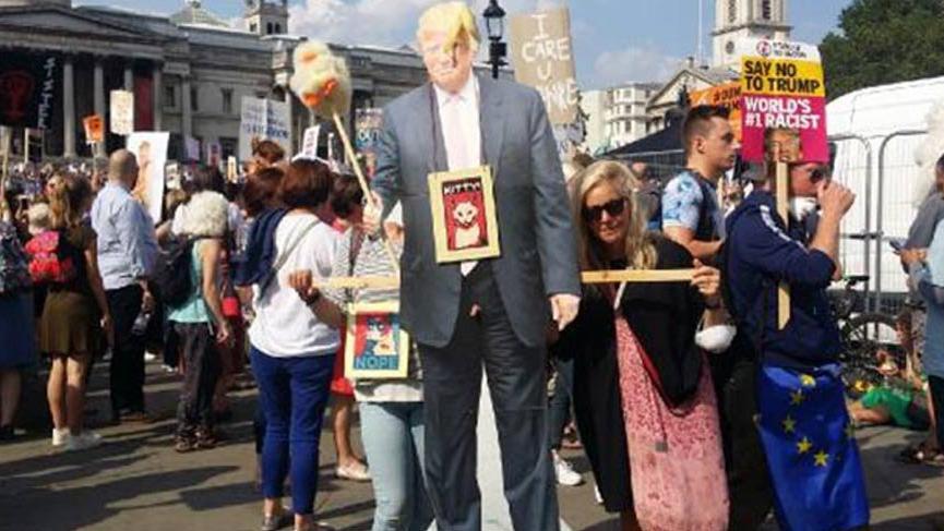 Trump, İngiltere'de böyle protesto edildi