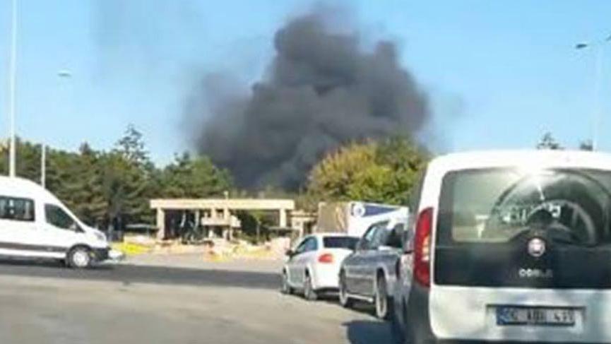 Ankara'da askeri kışlada yangın!
