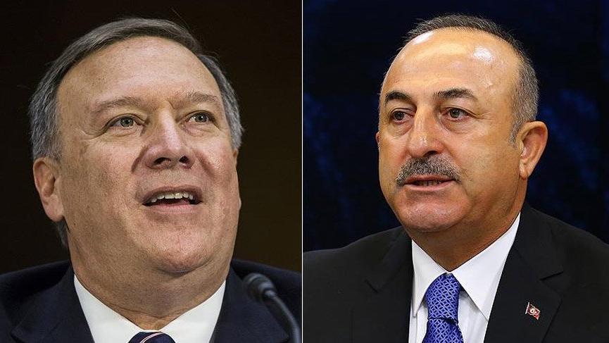 Son dakika... ABD Dışişleri Bakanı Pompeo, Mevlüt Çavuşoğlu ile görüştü
