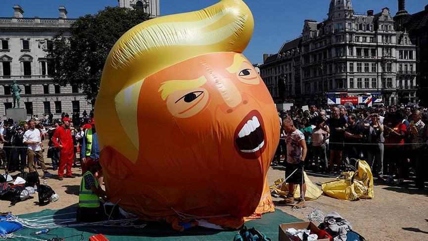 İngiltere'de Trump'a büyük protesto