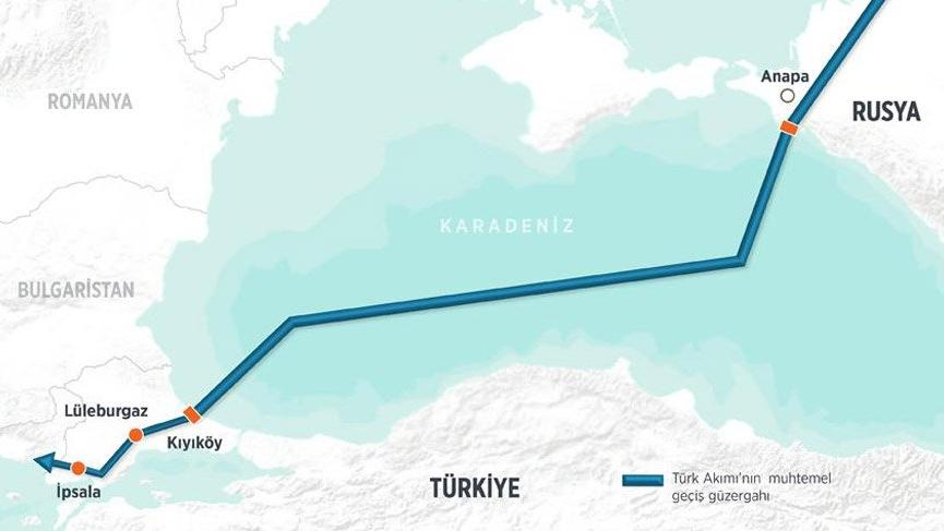 Türk akımı projesinde yer belirleme çalışmaları başladı