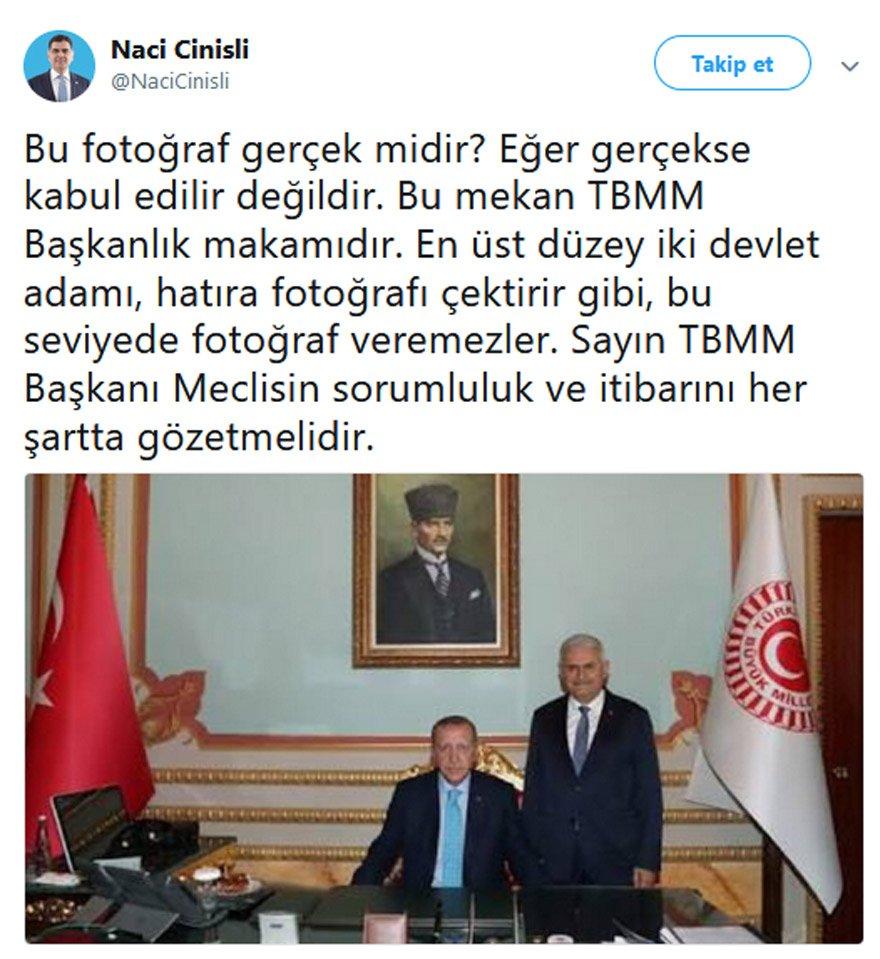 Erzurum Milletvekili Cani ise tepkisini böyle dile getirdi.