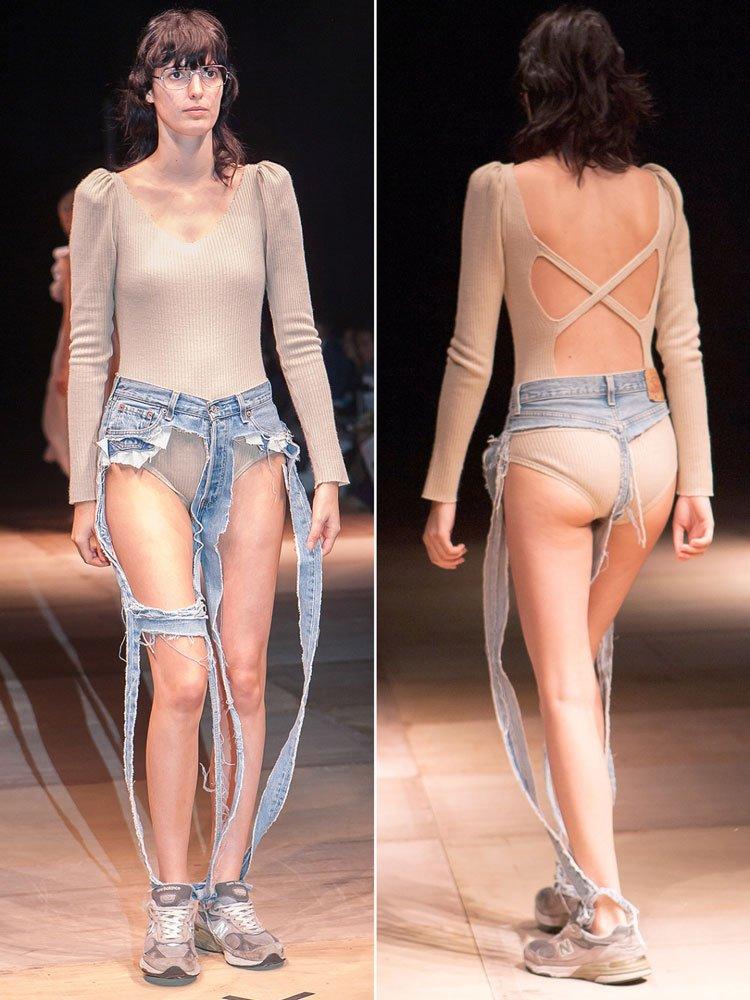 Japon tasarımcı Thibaut tasarımı yırtık pantolon 8 bin 900 TL