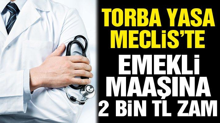 Emekli doktora 2 bin lira zam, sağlık çalışanına yıpranma