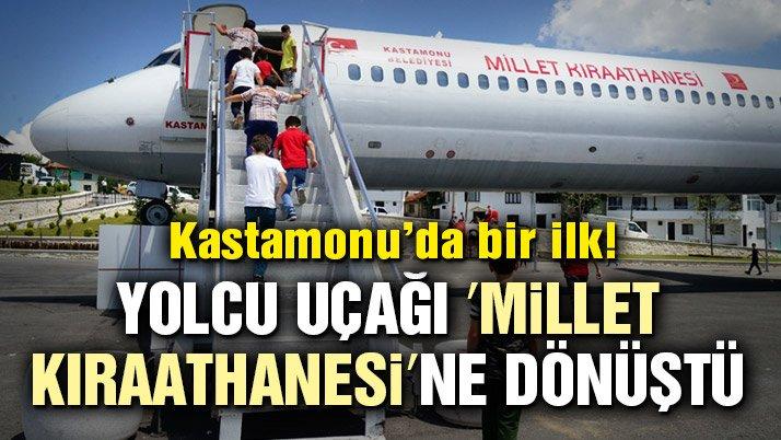 Yolcu uçağı 'Millet Kıraathanesi'ne dönüştü
