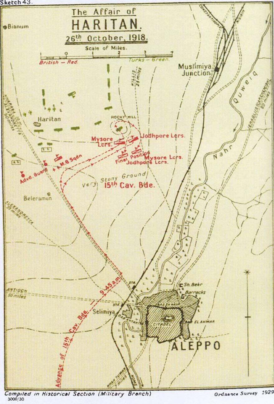 Haritan Olayı olarak adlandırılan Katma Savaşı haritası.