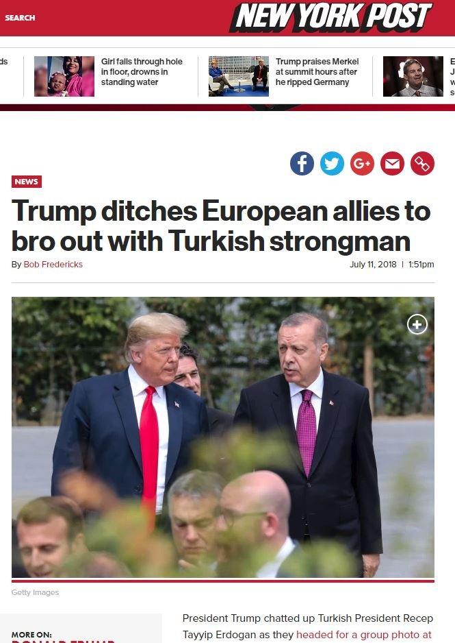 NY Post, iki liderin görüşmesine geniş yer ayırdı.