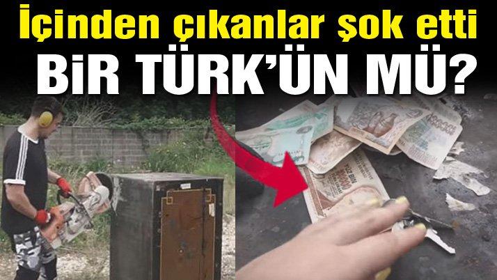 Satın aldıkları kasanın içinden çıkanlar şok etti... Türk lirası, mektup, külçe altın...