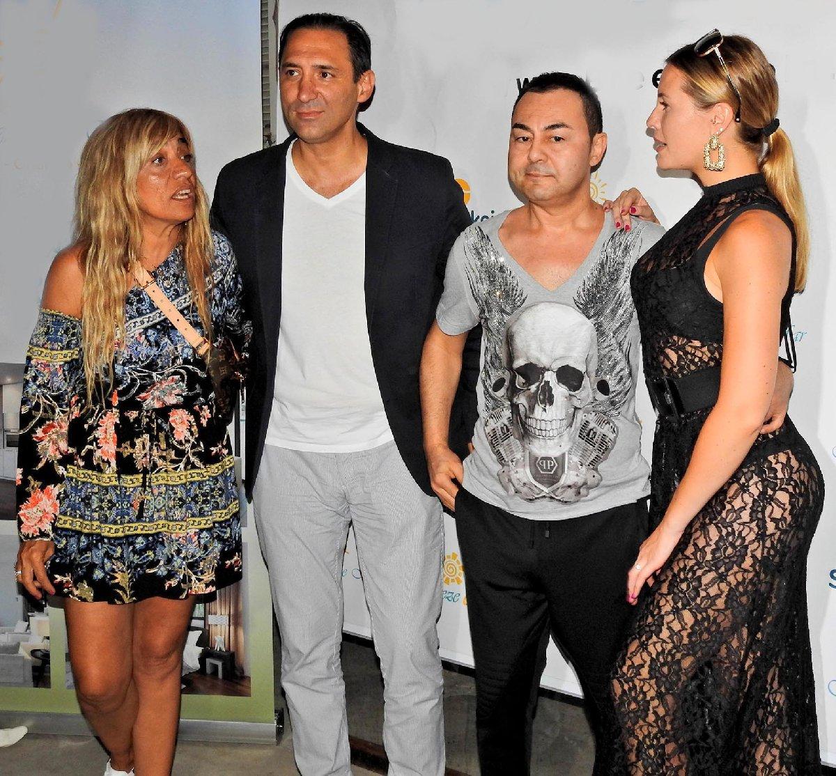 Serdar Ortaç'ın eşi Chloe Loughnan'ın transparan elbisesi dikkat çekti.