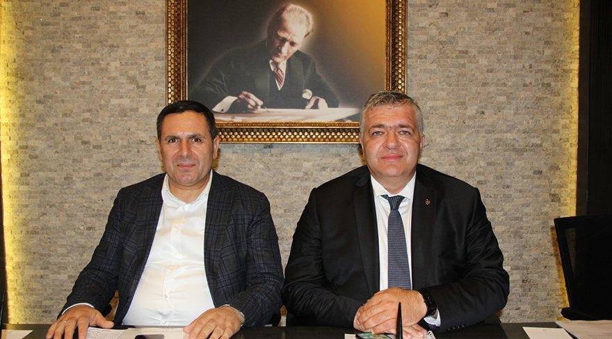 GTB Meclis Başkanı Ahmet Tiryakioğlu ve Yönetim Kurulu Başkanı Mehmet Akıncı
