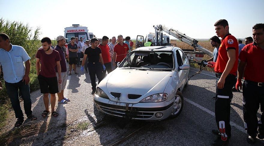Kazada aynı aileden 3 kişi öldü. AA