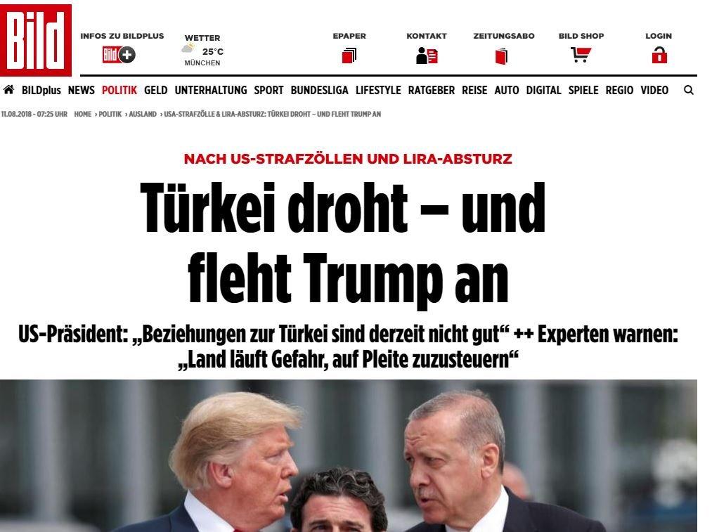 Alman Bild gazetesi, gelişmeyi tarafların açıklamalarıyla değerlendirdi.