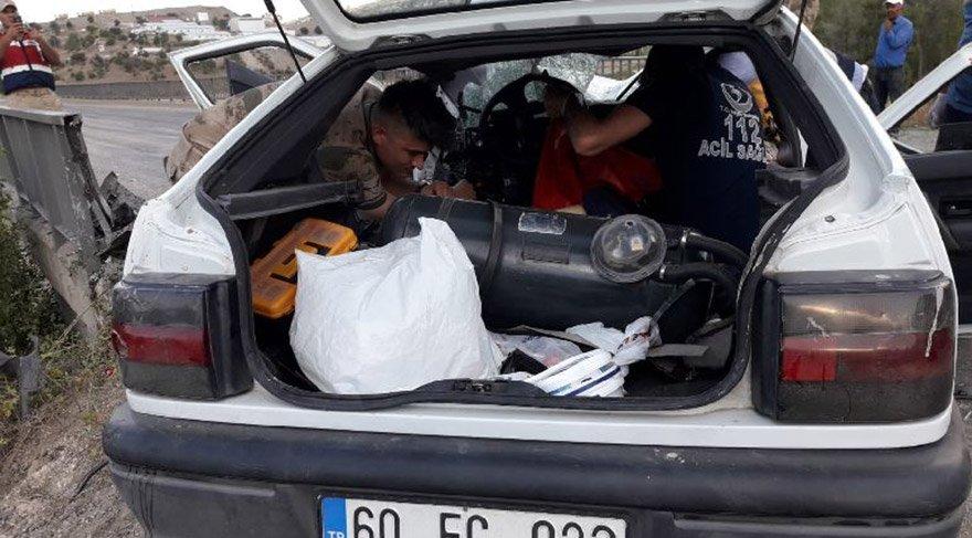 Tokat'ın Zile ilçesinde meydana gelen trafik kazasında 2 kadın hayatını kaybetti, 4 kişi yaralandı. FOTO: AA