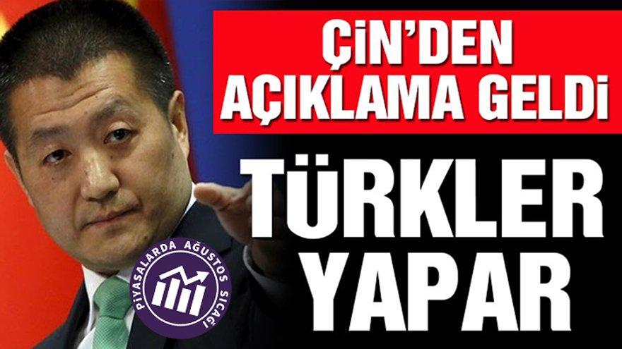 Çin Dışişleri Bakanlığı: Türkler yapar