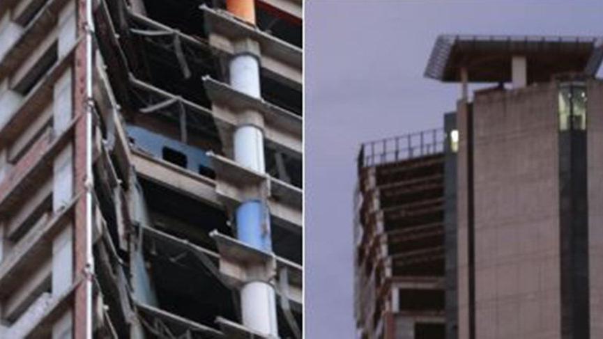 Venezüella'da meydana gelen depremde 200 metrelik gökdelen eğildi