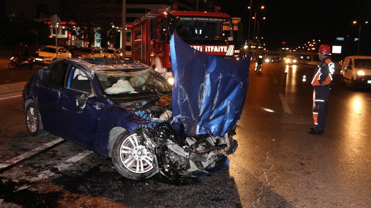 İstanbul'da feci kaza! Taklalar attı