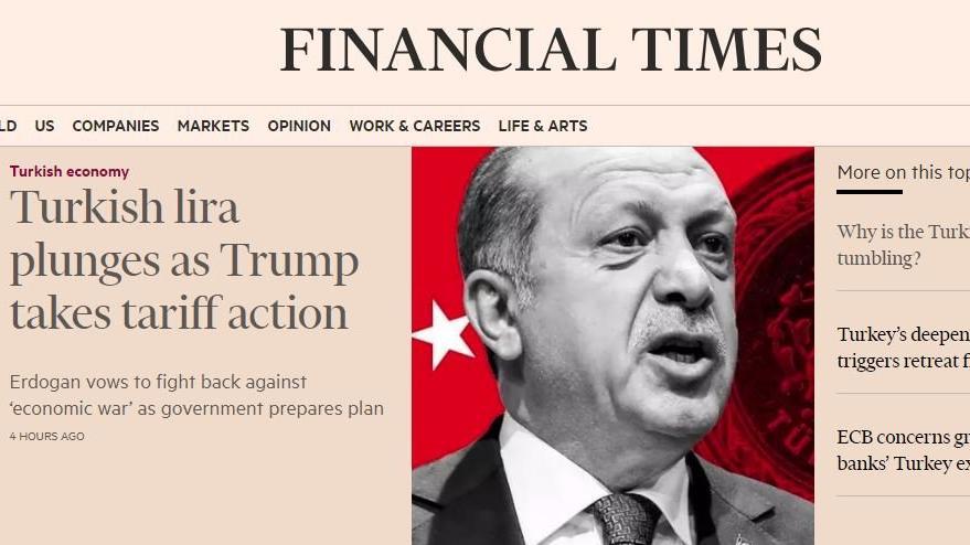 ABD-Türkiye krizini dünya böyle gördü... İngilizlerin zil takıp oynamadığı kaldı!