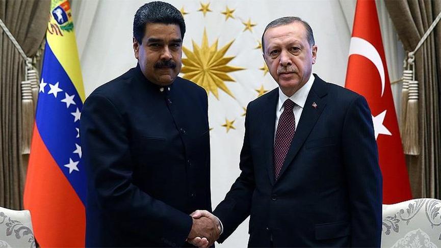 Erdoğan Maduro'yla görüştü!