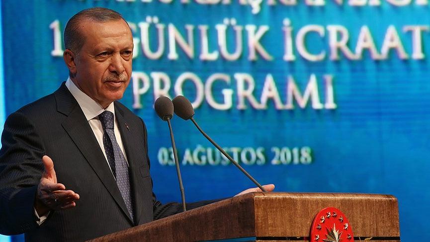 Erdoğan'ın 100 günlük eylem planı toplantısında ilginç diyalog