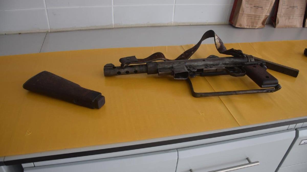 Hırsız operasyonunda esrarengiz silah
