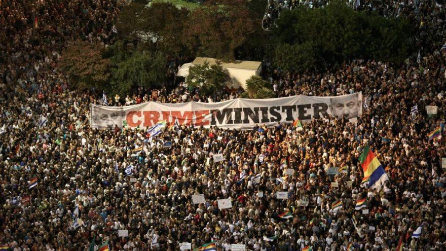 İsrail'de Araplar ırkçı yasayı protesto etti