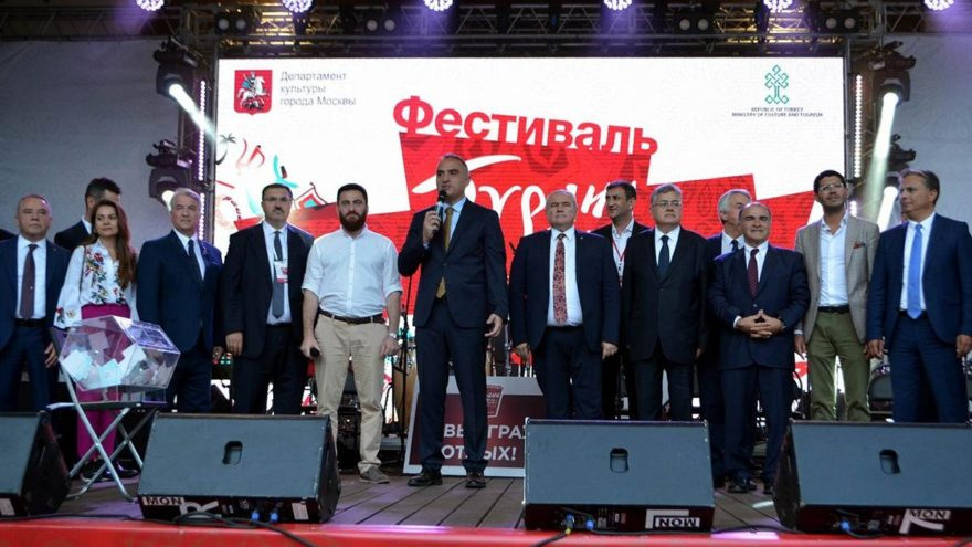 Moskova'da Türkiye Festivali zamanı