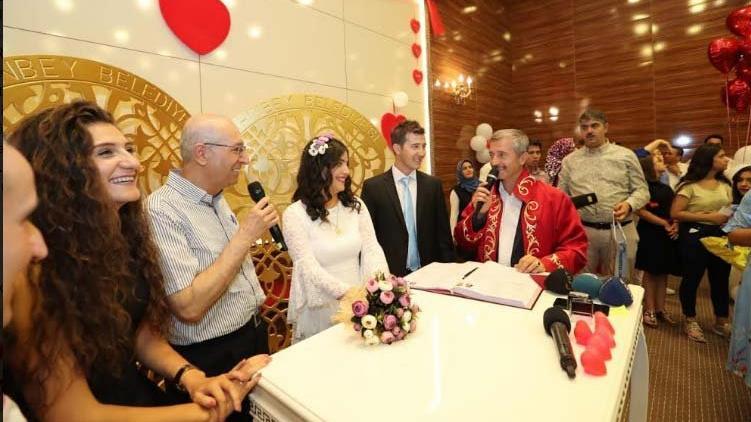Çiftlerin 08.08.2018 rekoru Gaziantep'te