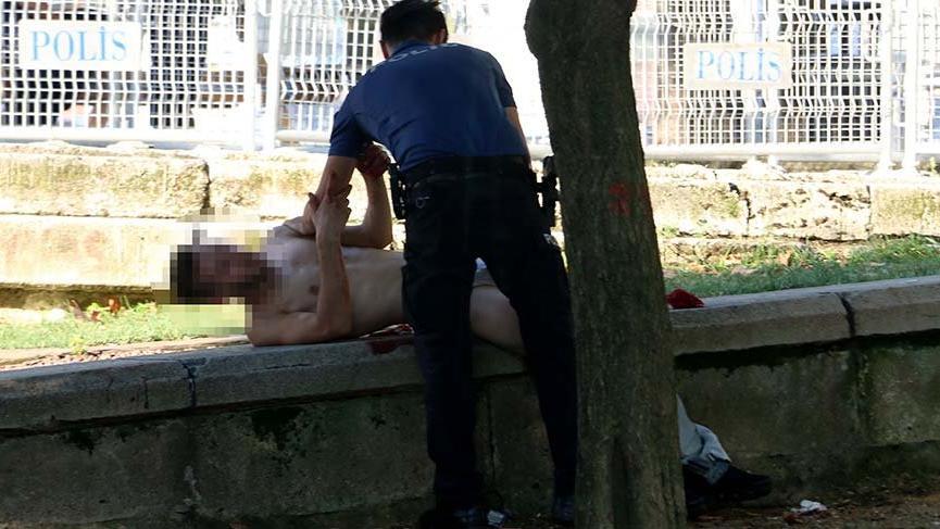Gezi Parkı'nda önce kavga sonra bıçaklı saldırı