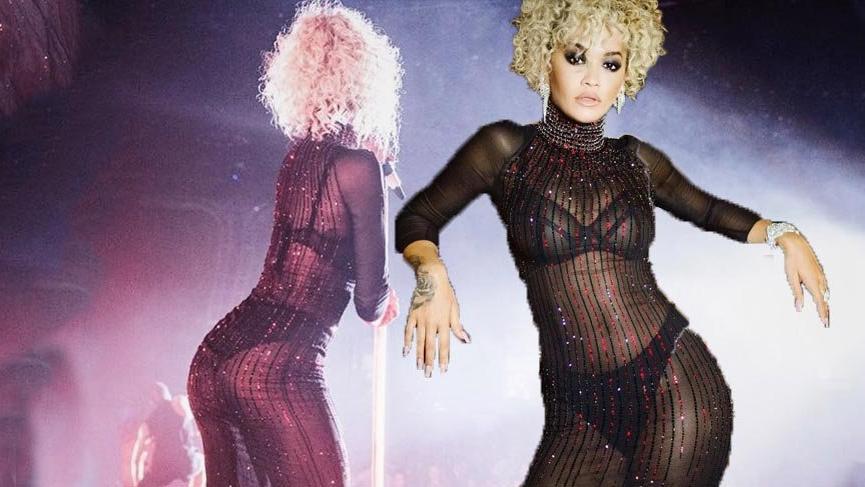 Şarkıcı Rita Ora artık bir model