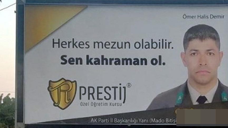Şehit Ömer Halisdemir reklam için kullanılamaz