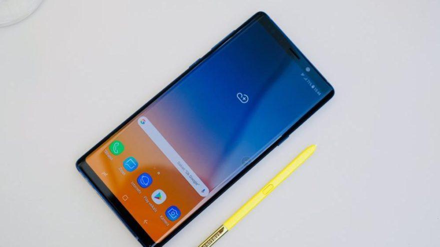 Samsung Galaxy Note 9'un ekranı rekor kırdı
