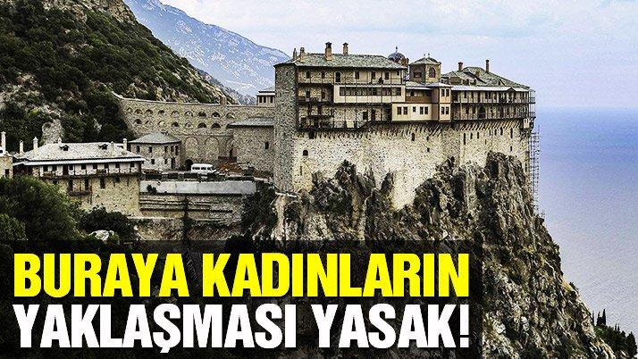 Kadınlara ve dişi hayvanlara yasak dağ: Athos