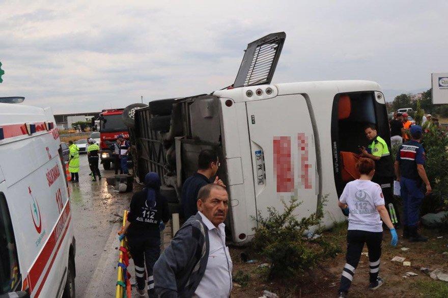 Devrilen otobüste 1 kişi hayatını kaybetti. AA