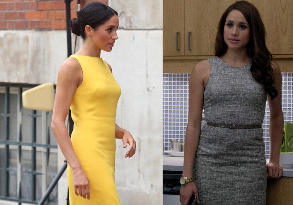 Tartışmalara yol açan sarı elbisesi de tıptı Rachel karakterinin elbisesine benziyor...