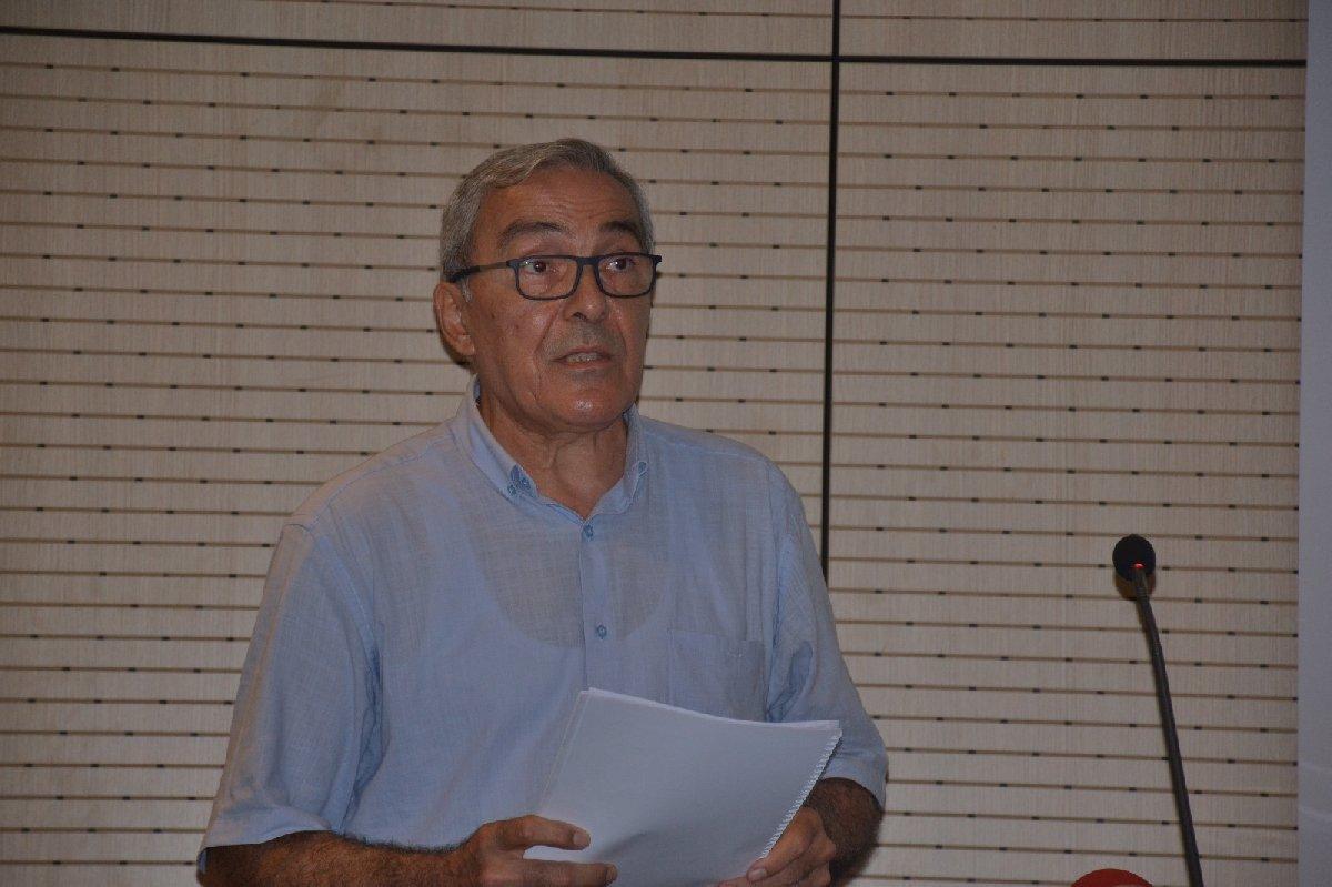 FOTO:SÖZCÜ - TMOBB İstanbul Şube başkanı Nusret Suna, Sütlüce raporunu açıkladı.