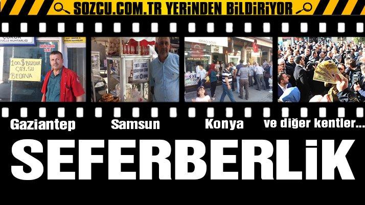 Erdoğan'ın çağrısına esnaftan kampanyalı destek