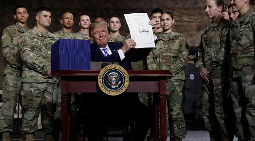 ABD Başkanı Trump, 2019 yılı savunma bütçesini imzaladı. Reuters
