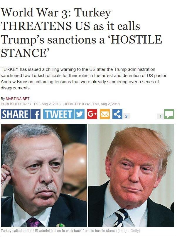 Tabloid gazetesi, iki ülke arasındaki gelişmeyi okuyucularına duyurdu.