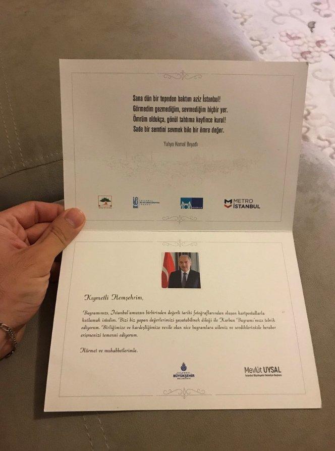 İBB Başkanı Mevlüt Uysal yeni logoyu resmi yazışmalarda kullanmaya devam ediyor.