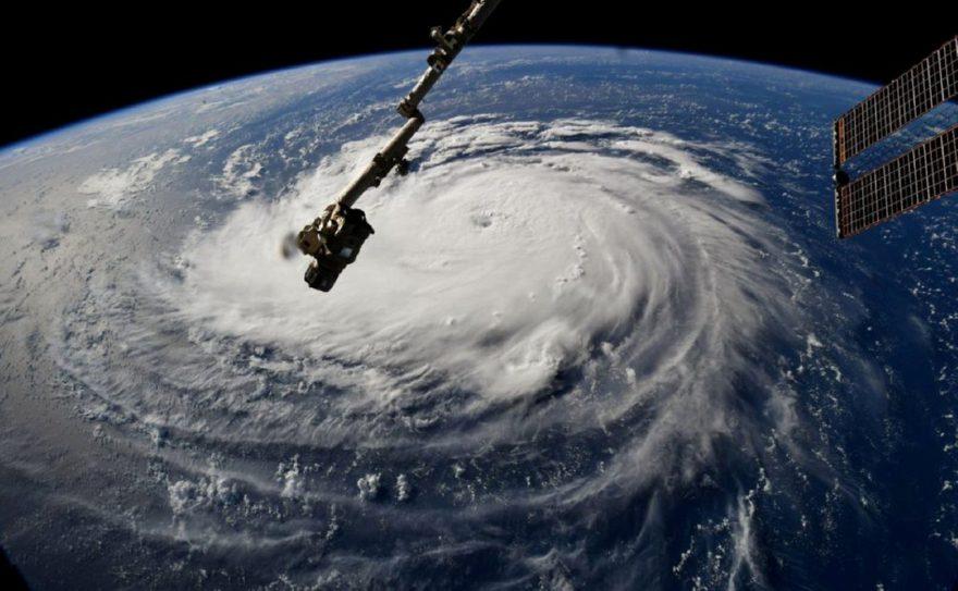 Kasırga bulutları uzaydan böyle görüntülendi. Reuters