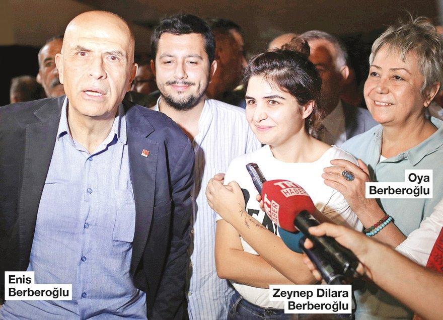 GELİŞMELERİ HUKUKÇULARLA DEĞERLENDİRECEK CHP İstanbul Milletvekili Enis Berberoğlu tahliye sonrası eşi Oya Berberoğlu ve kızı Zeynep Dilara ile hasret giderdi. Berberoğlu, partisinin Bolu'da yapılacak kampına ve TBMM çalışmalarına da katılacak. Berberoğlu, gelişmeleri de hukukçularla değerlendirecek.