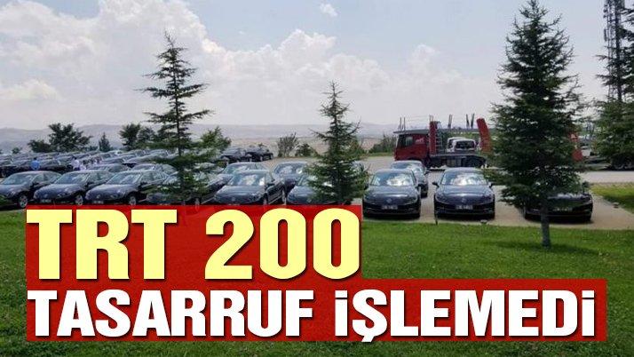 TRT'ye 200 araç filosu