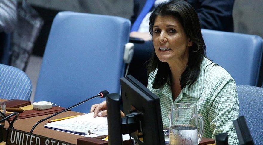 ABD'nin temsilcisi Haley Esad'ın hava saldırılarını eleştirdi. AA