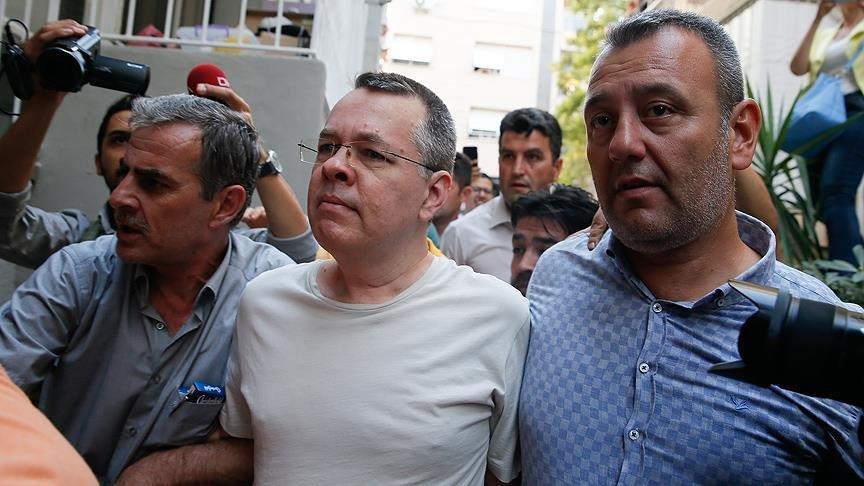 FOTO:AA - ABD ile Türkiye arasında krize neden olan Rahip Brunson, 12 Ekim'de hakim karşısına çıkacak.