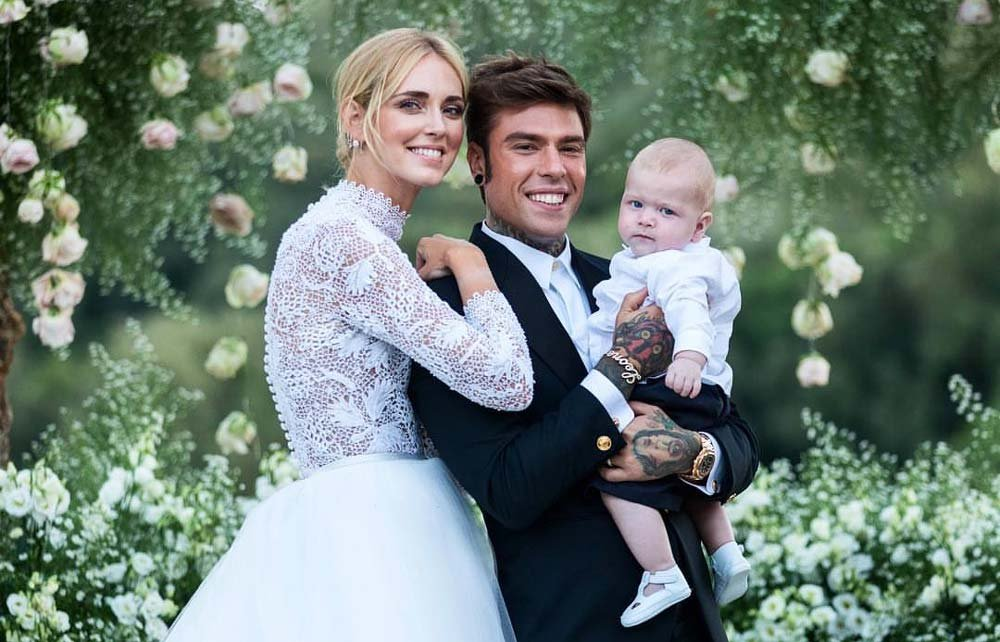 Chiara, eşi ve 6 aylık oğulları Leo.