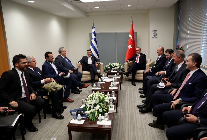 Erdoğan ve Çipras BM tolantıları için New York'ta. Reuters