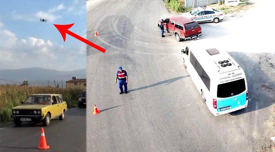 İnsansız hava araçları (drone) trafik denetiminde kullanıldı. İHA